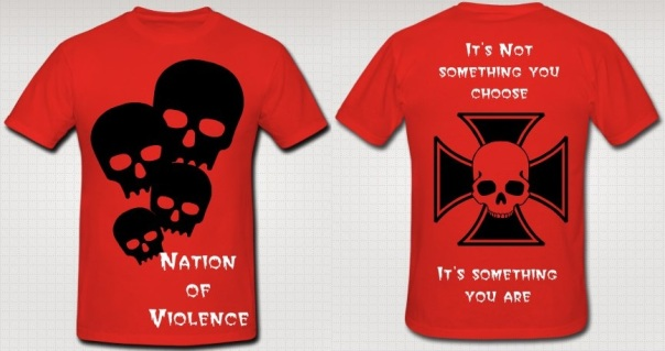 "A.B. ""Nation of Violence"" Authentic T-Shirt"