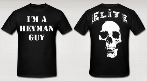 """Rodrigo Heyman & Elite Of Wrestling """"I'm a Heyman Guy"""" Authentic T-Shirt"""