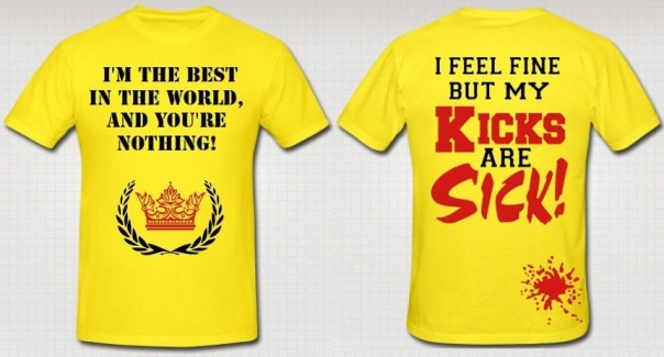 "Stuart Sanders ""Kicks and Sick!"" Authentic T-Shirt"